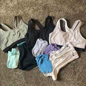 Nike/under amour workout set!!